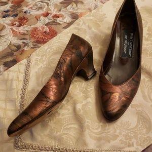 Stuart Weitzman for Mr Seymour Copper Kitten Heels
